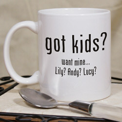 Got Kids? Personalized Coffee Mug