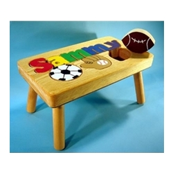 Personalized Sports Name Stool