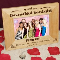 Engraved Prom Wooden Picture Frame