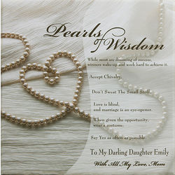 Pearls of Wisdom Personalized Canvas Art