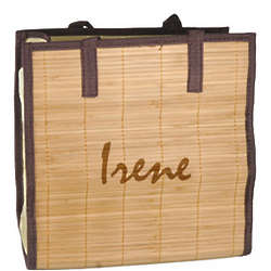 Personalized Beach Bamboo Shopping Tote Bag
