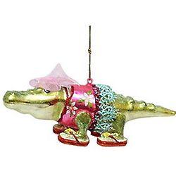 Resort Dressed Alligator Ornament