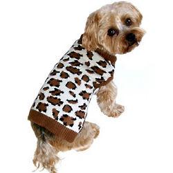 Leopard Print Dog Sweater