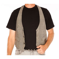 Virgin Wool Grey Vest