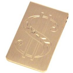 Personalized Gold Plated Dollar Sign Money Clip
