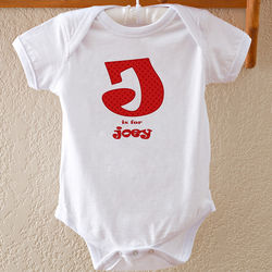 Personalized Alphabet Name Baby Bodysuit