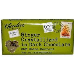 Chocolove Ginger Crystalized in Dark Chocolate Bar