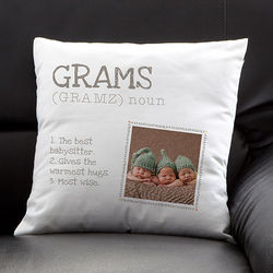 Definition of Grandma Personalized Photo Pillow