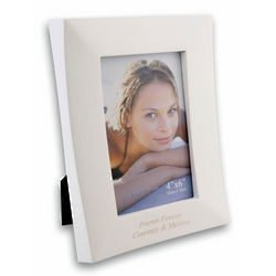 Personalized White Wooden Photo Frame