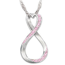 Forever Hope Breast Cancer Support Pendant Necklace