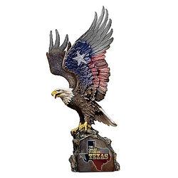 Texas Pride Eagle Sculpture Salutes the State's Spirit