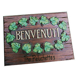 Personalized Benvenuti Floor Mat