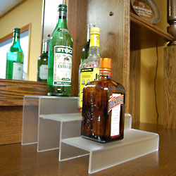 Translucent 3-Tier Liquor Bottle Shelf