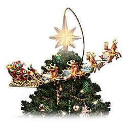 Holidays in Motion Rotating Illuminated Tree Topper