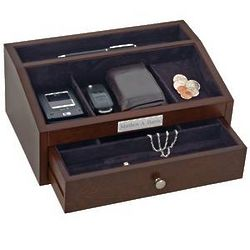 Personalized Men's Jewelry Chest with Drawer