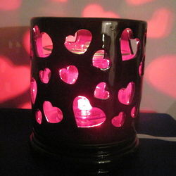 Ceramic Heart Scented Electric Oil Warmer Lamp