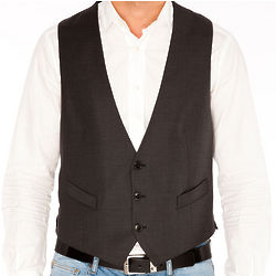 Armani Virgin Wool Grey Vest