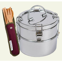 To-Go Ware Stainless Steel Carriers with Bamboo Utensil Set