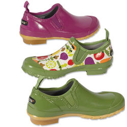 Green and Multi Colored Women's Bogs Rue Rain Shoe
