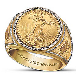 Saint-Gaudens Gold Proof Men's Ring