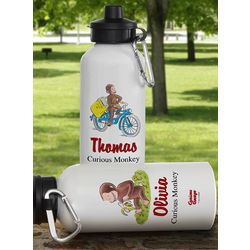 Curious George Personalized Water Bottle