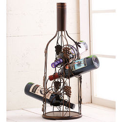 Wine Bottle-Shaped Wine Rack