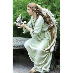 Seated Angel Garden Figure