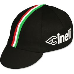Men's Cinelli Red, White, Green, and Black Bicyclist Cap