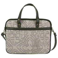 Savvy Traveler Leather Accent Cotton Laptop Bag
