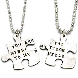 Missing Piece Silver Puzzle Necklaces