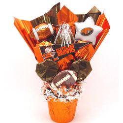 Cleveland Browns Cookie Pot Bouquet
