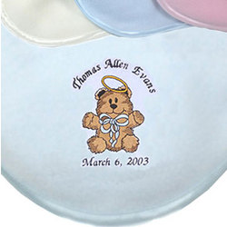 Teddy Bear Angel Crib Blanket