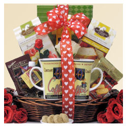 Breakfast for Two Valentine's Day Gift Basket