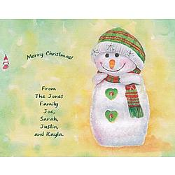 Personalized Simply Snowman Canvas Art