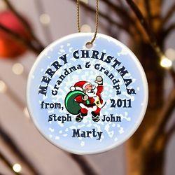Santa Snow Ornament
