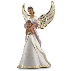 Mother and Daughter Porcelain African Batik Angel Figurine