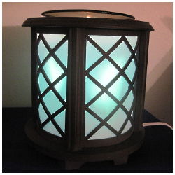Wooden Lattice Scented Oil Warmer