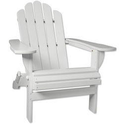 Folding White Adirondack Chair
