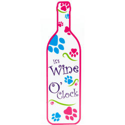 It's Wine O'Clock Paws Wall Sign