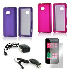 Girly Hot Pink and Purple Cell Phone Holder with Car Charger