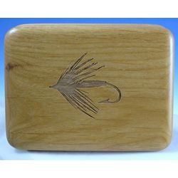 Engraved Wooden Fly Box