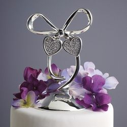 Romance Silver-Plated Cake Topper