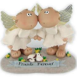 Angel Cheeks Friends Forever Figurine