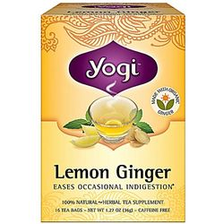 Digestion Easing Lemon Ginger Tea