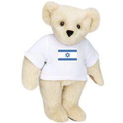 """Israel Flag T-Shirt 15"""" Teddy Bear"""