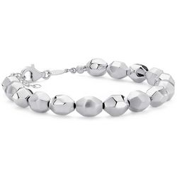 Multi-Finish Petite Pebble Bracelet in Sterling Silver