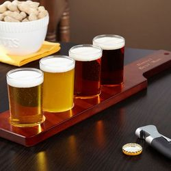 Personalized Beer Flight Set