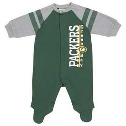 Newborn's Green Bay Packers Sleep-n-Play Coverall