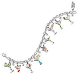 Happy Hour Martini Charm Bracelet