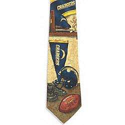 San Diego Chargers Nostalgia 2 Silk Tie
